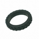 Tread Bangle (child) - 'Oblivion' (black) - Chewigem
